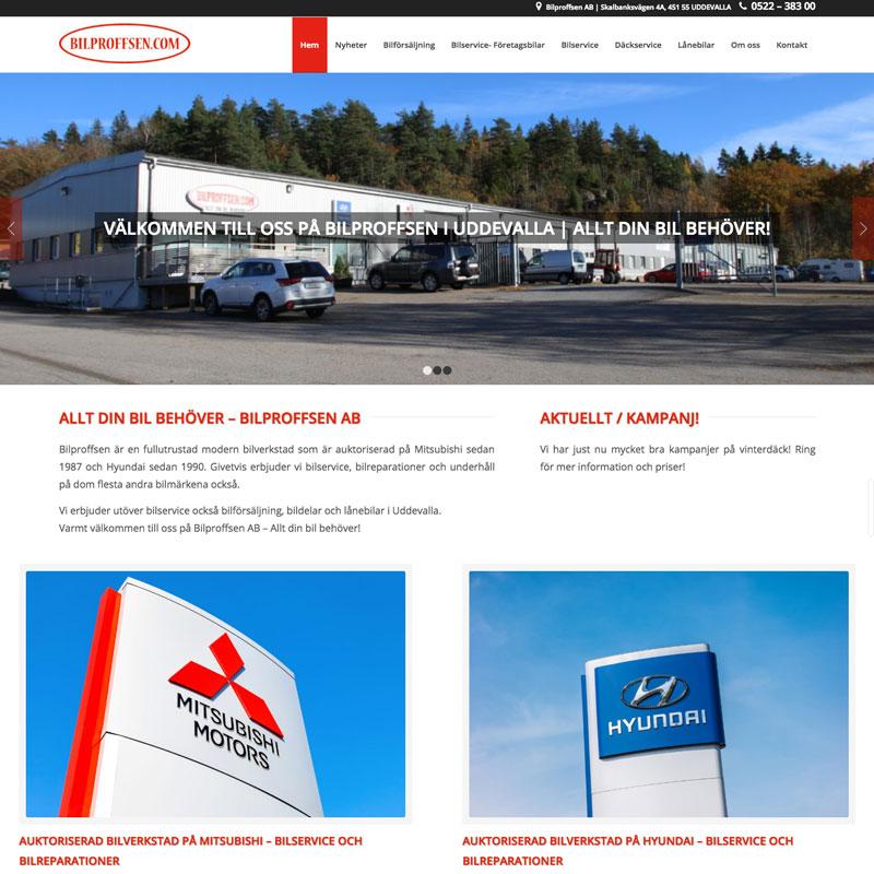 Bilproffsen-homepage